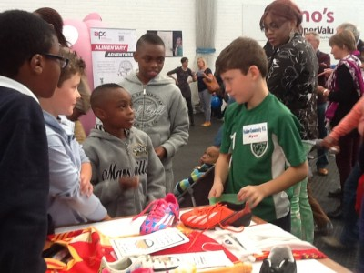 Ryan Explaining Friction at Mallow Maths and Science Fair