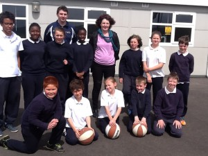 Rose, Ciaran and the school team